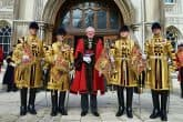 Bidding a warm welcome to the city's new lord mayor