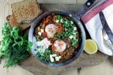Pan-tastic: Catherine and Danny's baked eggs