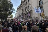 Old Bailey crowds for the Tommy Robinson case