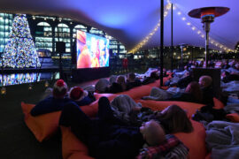 pop up christmas festive film screenings london city wapping square mile